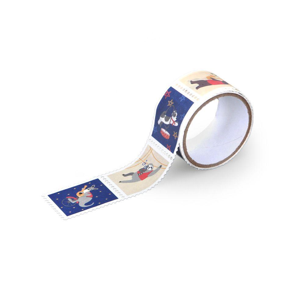 Dailylike 郵票造型紙膠帶(單捲)-14 動物音樂家