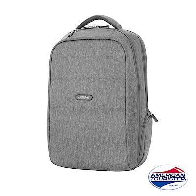 AT美國旅行者 Westlock混色質感功能型筆電後背包(淺灰)