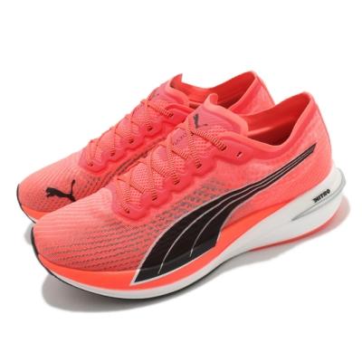 Puma 慢跑鞋 Deviate Nitro 運動休閒 男鞋 緩震 輕量 路跑 透氣 球鞋穿搭 橘 白 19444901