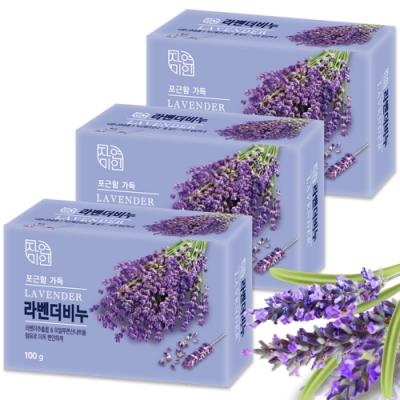 韓國 MKH無窮花 薰衣草保濕美肌香皂 <b>3</b>入