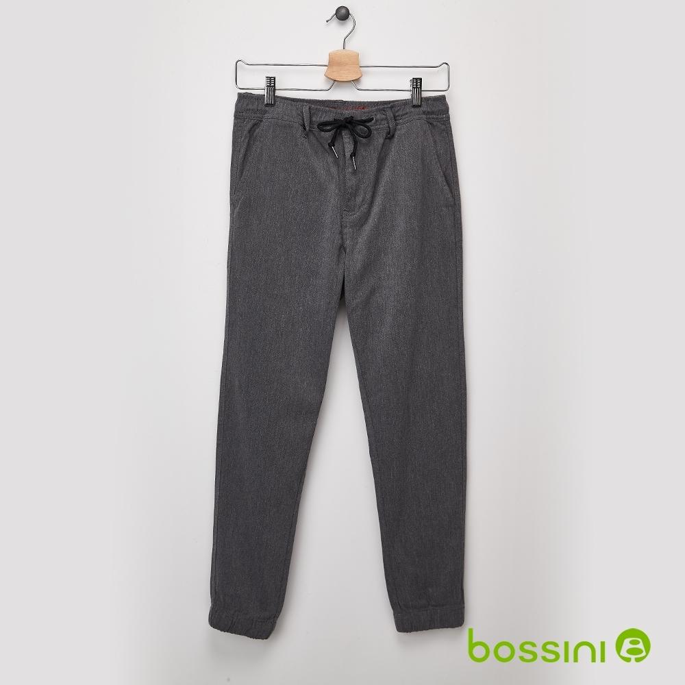 bossini男裝-保暖束口褲(內磨毛)01灰