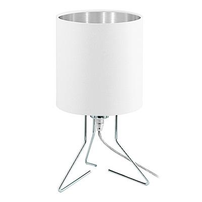 EGLO歐風燈飾 時尚白圓筒式檯燈/床頭燈(不含燈泡)