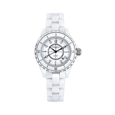 Valentino Coupeau 范倫鐵諾 古柏 精密陶瓷腕錶-白陶//35mm