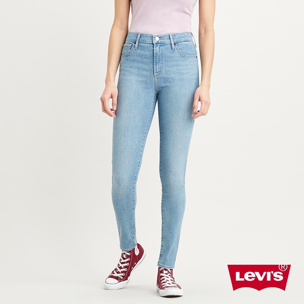 Levis 女款 720高腰超緊身窄管 超彈力牛仔褲 Lyocell天絲棉 輕藍染水洗