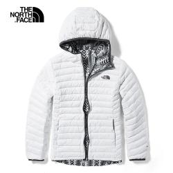 The North Face北面女款白色保暖防潑水羽絨外套|3KTMFN4