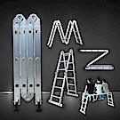 【MS】多功能8段變形鋁合金摺疊梯(M字梯/工作梯)
