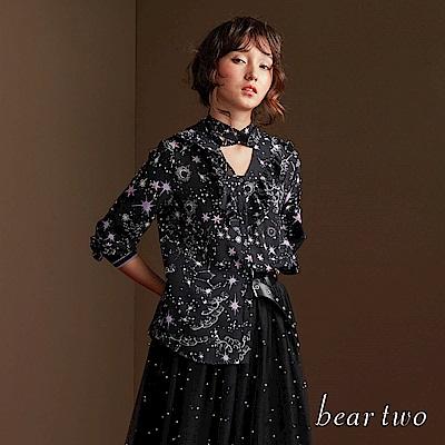 beartwo 星空閃閃雪紡造型上衣(2色)