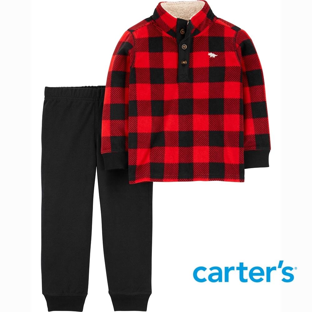 【Carter's】水牛格紋2件組套裝(2T-5T) (上衣/長褲)  (台灣總代理)