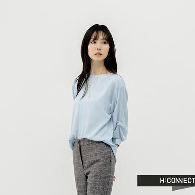 H:CONNECT 韓國品牌 女裝 - 俐落層次感袖型襯衫-天藍