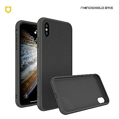 犀牛盾iPhone Xs Solidsuit 超細纖防摔背蓋手機 - 泥灰