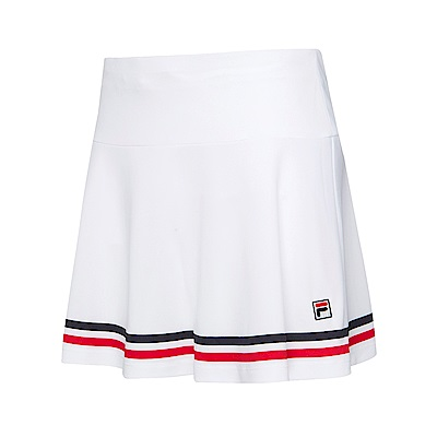 FILA女抗UV吸濕排汗短裙-白 5SKS-5010-WT