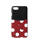 iPhone 8/7 Plus 海外限定 迪士尼 皮革插卡口袋 手機硬殼 5.5吋-米妮