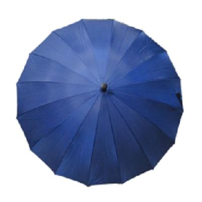 【台灣嚴選】藍色RA32009BU超大傘面抗風16骨直 柄長晴雨傘(傘面外徑136CM)