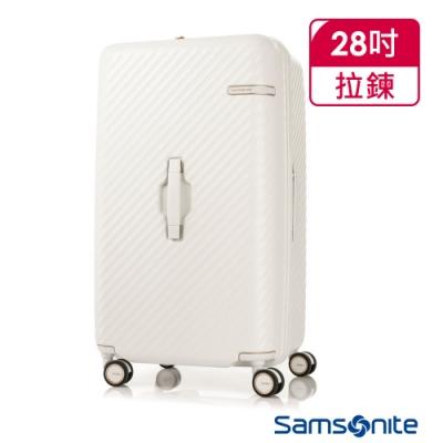Samsonite新秀麗 28吋 Stem 2/8 開闔PC抗震雙輪SPORT運動箱(象牙白)
