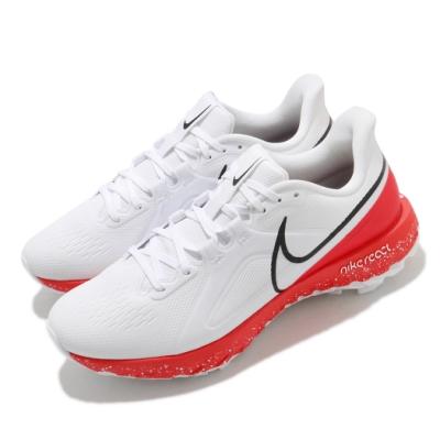 Nike 高爾夫球鞋 React Infinity 寬楦 男鞋 基本款 舒適 避震 包覆 球鞋 訓練 白 紅 CT6621106
