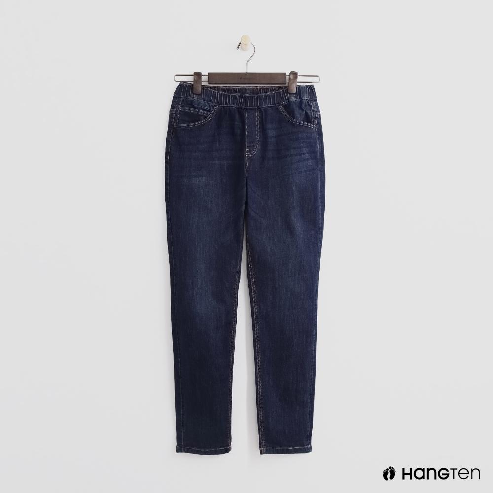 Hang Ten-童裝-鬆緊牛仔長褲-深藍