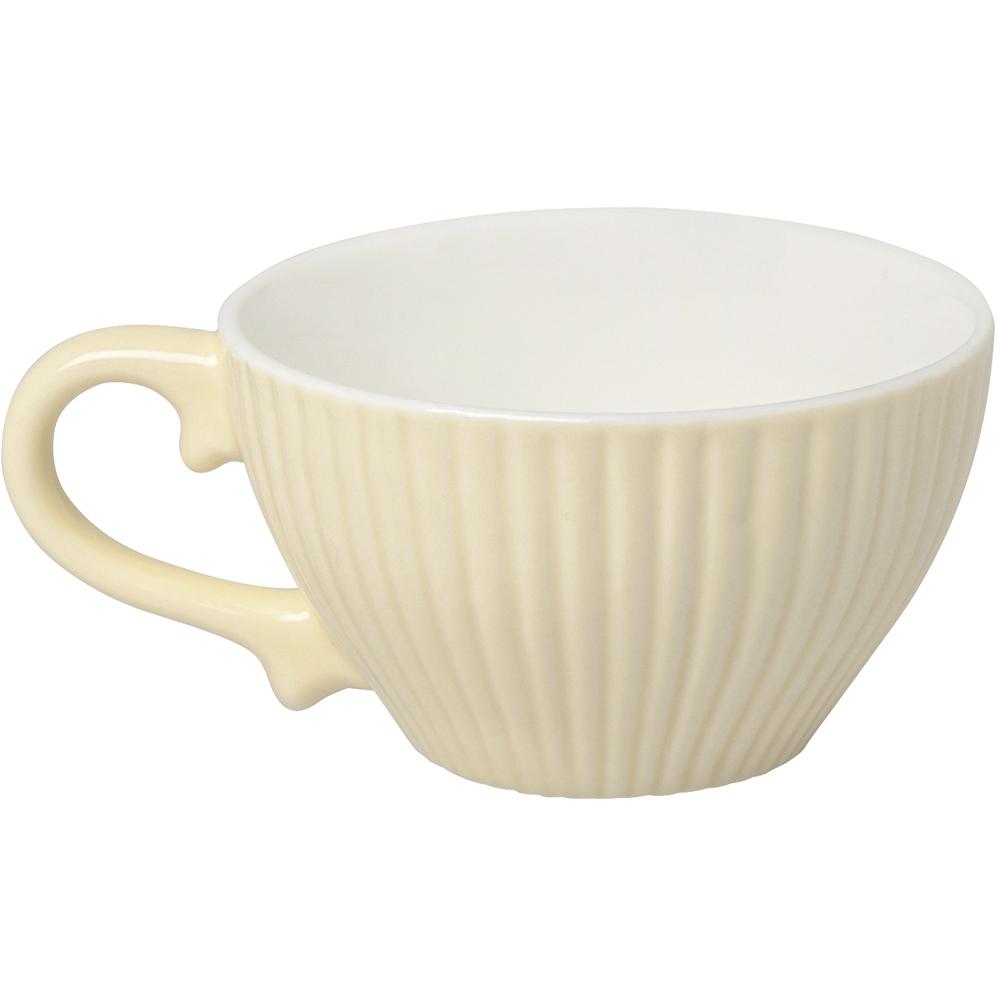 《EXCELSA》新骨瓷貝殼紋濃縮咖啡杯(奶油黃90ml)