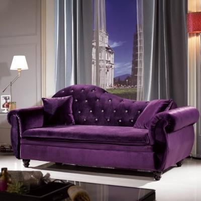 H&D 紫色貴妃椅(含2小抱)
