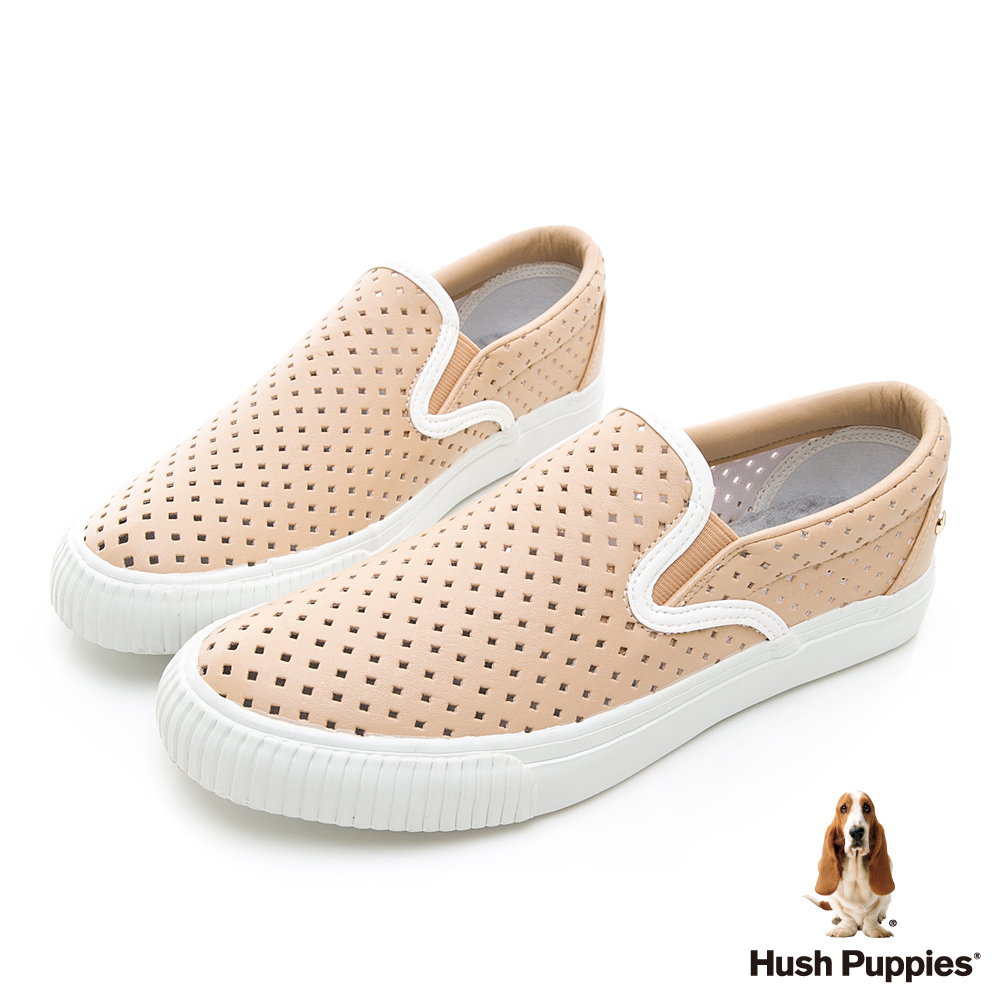 Hush Puppies Starlit 沖孔皮質休閒便鞋-粉色