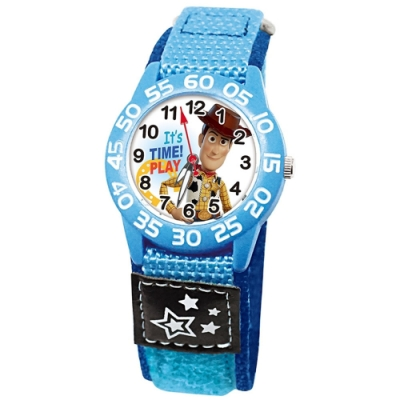 DISNEY迪士尼 Toy Story玩具總動員休閒織帶手錶 警長胡迪