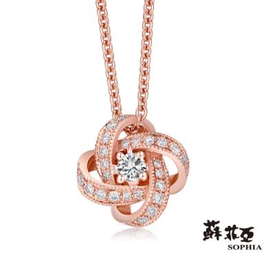 蘇菲亞SOPHIA - 梔子花玫瑰金鑽石項鍊