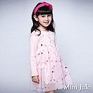 Mini Jule 洋裝  花草刺繡網紗長袖洋裝(粉紅)