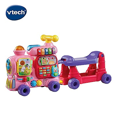 【Vtech】4合1智慧積木學習車-粉
