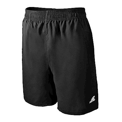【ZEPRO】男子素色運動短褲-黑