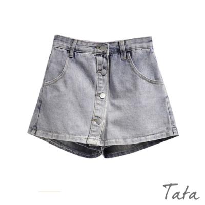 排扣牛仔褲裙 共二色 TATA-(S~XL)