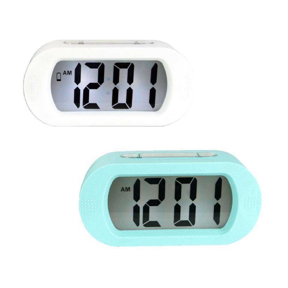 KINYO 北歐風數字電子鐘/鬧鐘(TD-385)LCD背光(2入組)