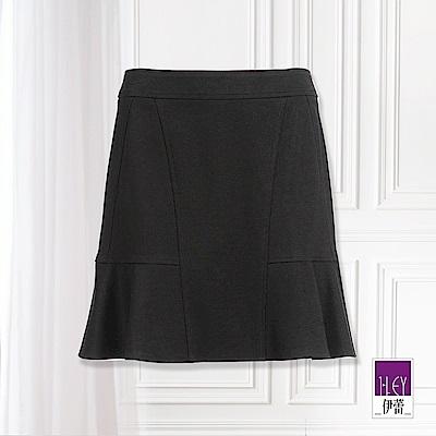 ILEY伊蕾 簡約線條荷葉褲裙(黑)