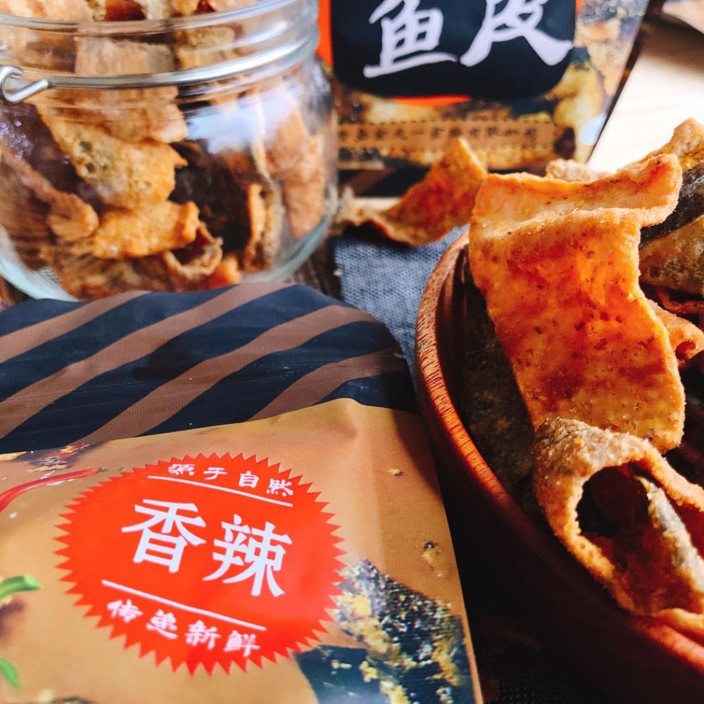 LONEN  蛋黃風味魚皮-辣味(60g)
