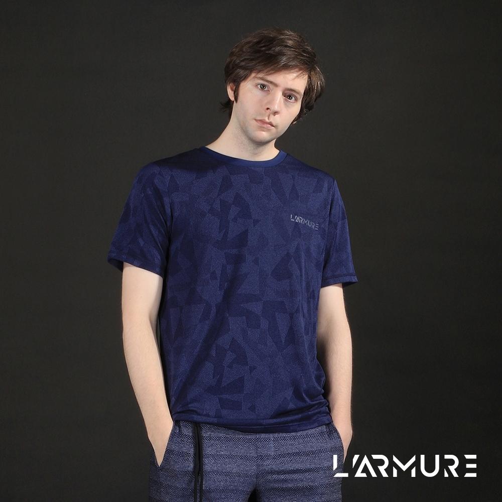 L'ARMURE 男裝 T-Mapping 幾何迷彩 T恤