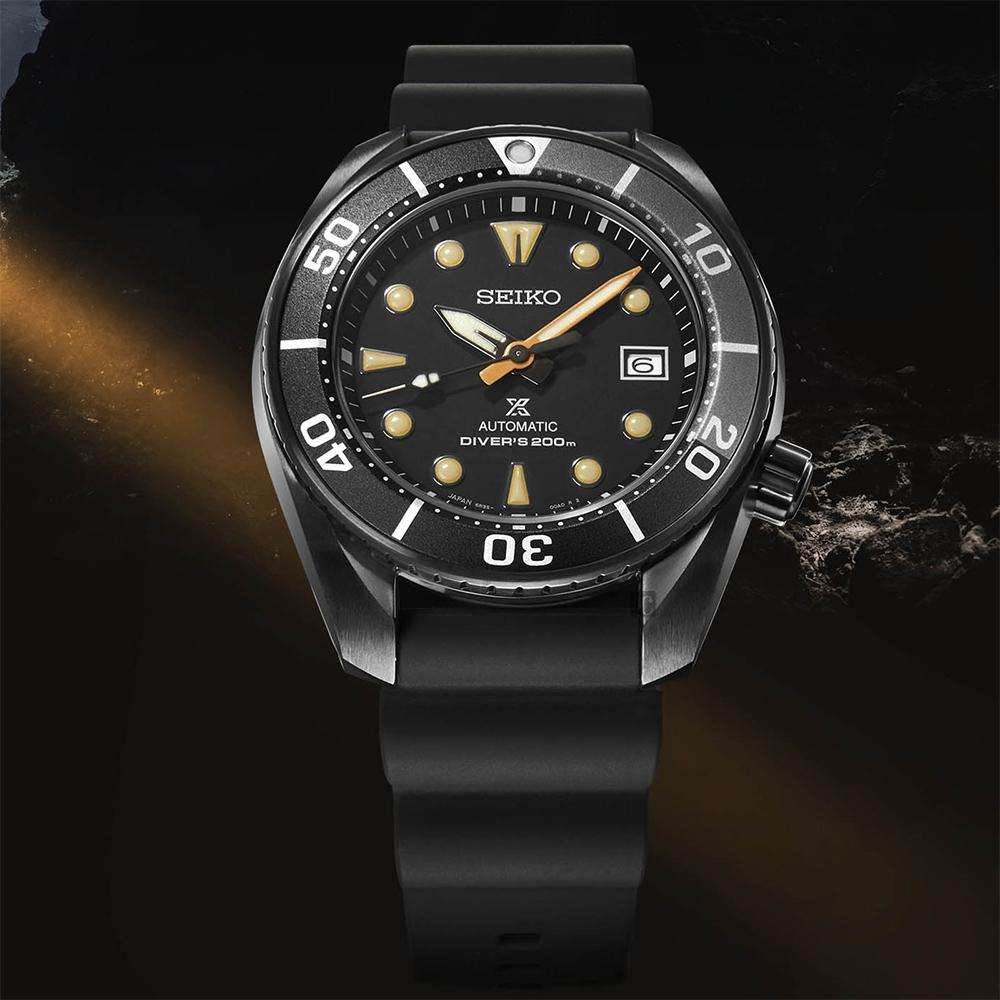 SEIKO精工 Prospex 最強黑水鬼限量機械錶(SPB125J1)-黑/45mm