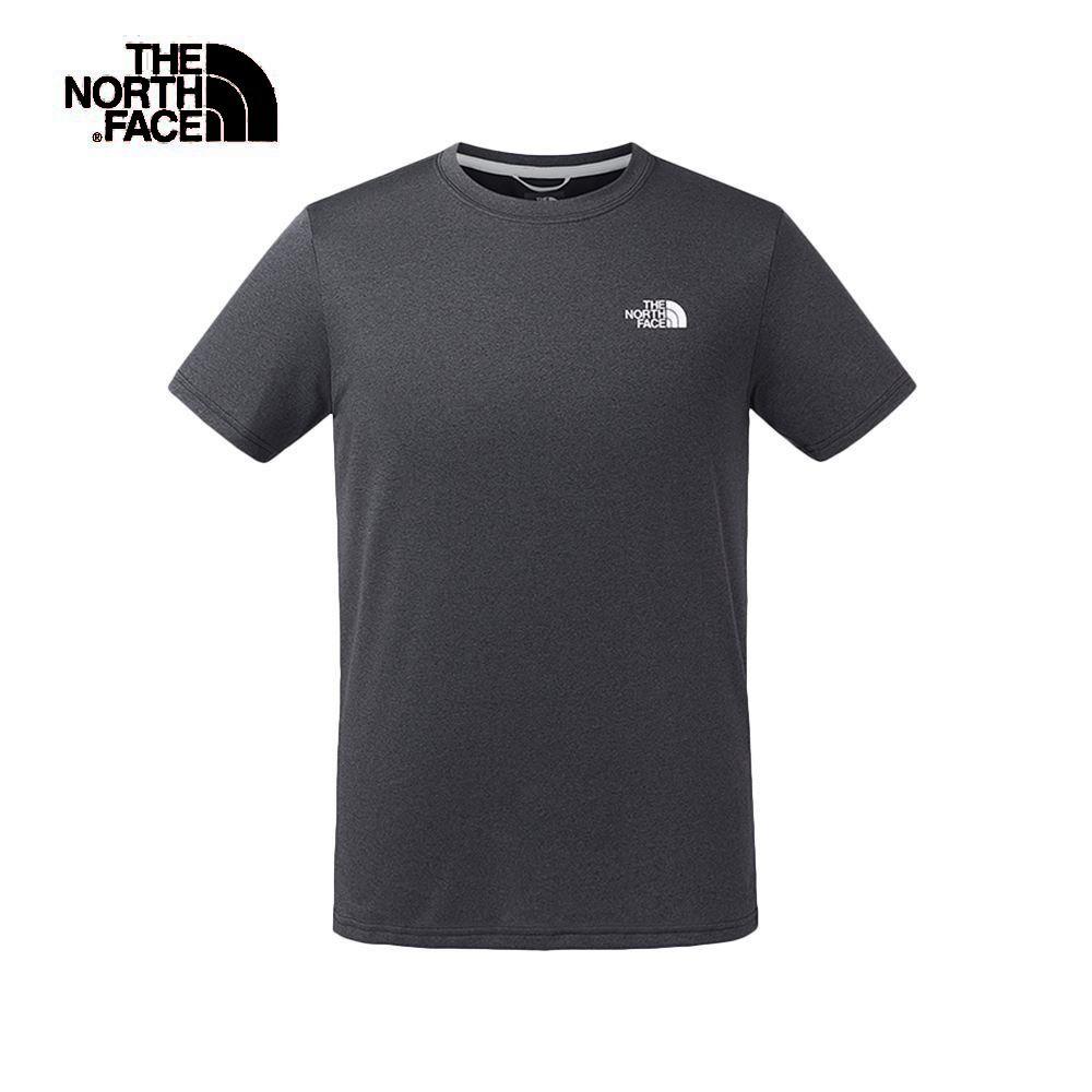 The North Face北面男款淺黑色吸濕排汗短袖T恤|3V8RKS7