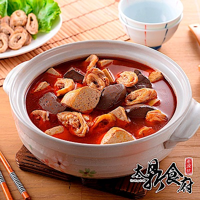 老深坑太鼎食府 麻辣肥腸鴨血臭豆腐鍋1500g(固形物850g)/盒