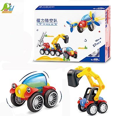 Playful Toys 頑玩具 磁力工程車積木
