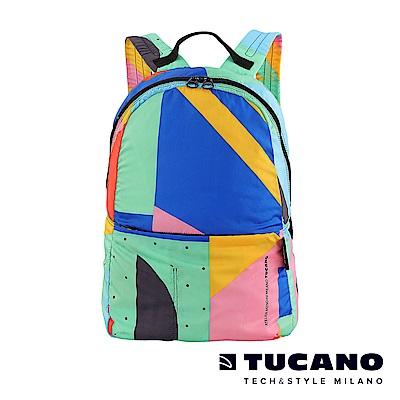 TUCANO X MENDINI 超輕量折疊收納後背包-繽紛幾何