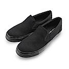 BuyGlasses 舒適休閒素面中性懶人鞋-全黑