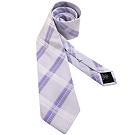 Calvin Klein 紫色菱格紋造型領帶