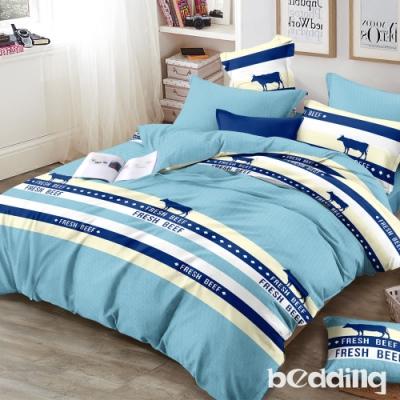 BEDDING-頂級法蘭絨-單人床包被套三件組-北歐之秋