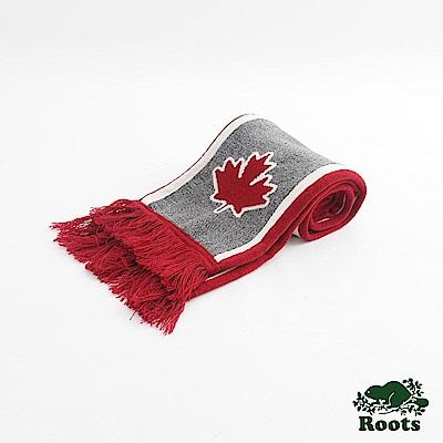 Roots配件- 加拿大系列長條圍巾 - 紅