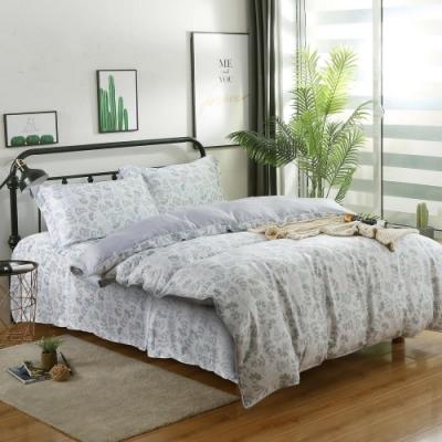 夢工場憨春意安然40支紗萊賽爾天絲四件式床罩兩用被-加大