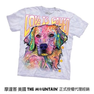 摩達客(預購)美國進口The Mountain 彩繪愛黃金獵犬 純棉環保短袖T恤