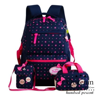 DF 童趣館 - 可愛星星兒童輕量護脊書包三件組-共2色