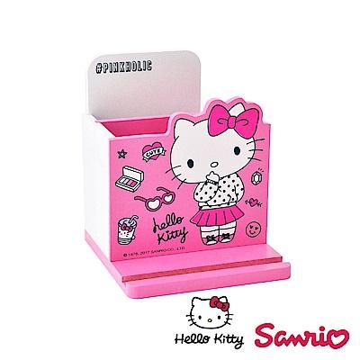 Hello Kitty 凱蒂貓桌上直式 鉛筆收納盒 筆筒 手機架 文具收納