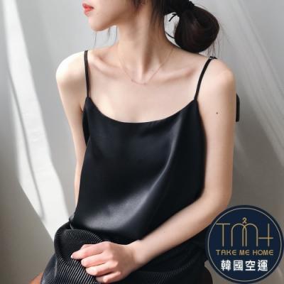 韓國空運 緞面細肩帶背心-4色-TMH