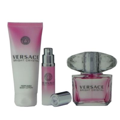 Versace Bright Crystal 香戀水晶淡香水 90ml +2入組 無外盒