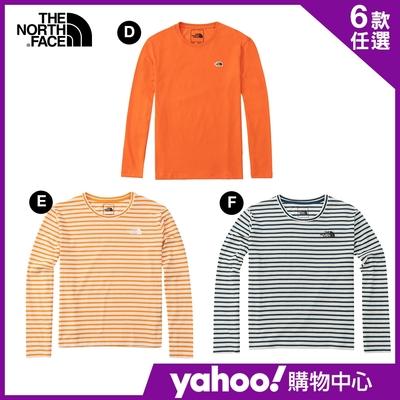 【The North Face】YAHOO獨家優惠-品牌經典男女款休閒長袖上衣-4款任選