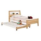 文創集 布森3.5尺雙色子母單人床台組合(子母床台組合+不含床墊)-113x178.5x19cm免組